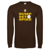 Brown Long Sleeve TShirt-Bump Set Spike