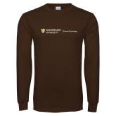 Brown Long Sleeve T Shirt-School of Psychology Horizontal