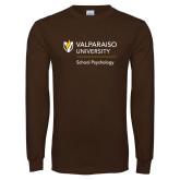 Brown Long Sleeve T Shirt-School of Psychology Vertical
