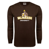 Brown Long Sleeve TShirt-Valparaiso University