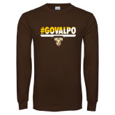 Brown Long Sleeve TShirt-#GOVALPO
