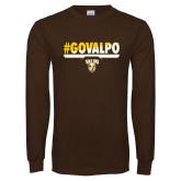 Brown Long Sleeve TShirt-#GOVALPO