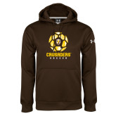 Under Armour Brown Performance Sweats Team Hoodie-Soccer Design