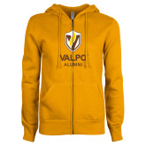 ENZA Ladies Gold Fleece Full Zip Hoodie-University Alumni Mark