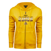 ENZA Ladies Gold Fleece Full Zip Hoodie-2017 Mens Basketball Champions