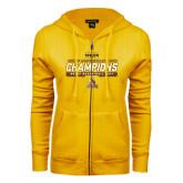 ENZA Ladies Gold Fleece Full Zip Hoodie-2017 Mens Basketball Champions