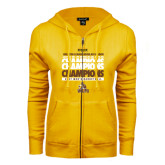 ENZA Ladies Gold Fleece Full Zip Hoodie-2017 Mens Basketball Champions Repeating