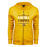 ENZA Ladies Gold Fleece Full Zip Hoodie-2017 Mens Basketball Champions Stacked