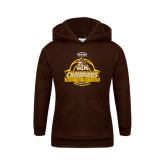 Youth Brown Fleece Hoodie-2017 Mens Basketball Champions Basketball Ribbon