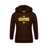 Youth Brown Fleece Hoodie-2017 Mens Basketball Champions