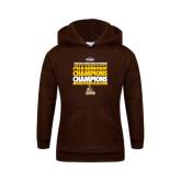 Youth Brown Fleece Hoodie-2017 Mens Basketball Champions Repeating