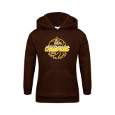 Youth Brown Fleece Hoodie-2017 Mens Basketball Champions Basketball
