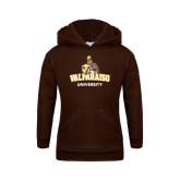Youth Brown Fleece Hoodie-Valparaiso University