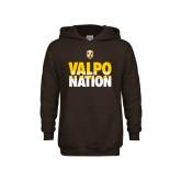 Youth Brown Fleece Hoodie-Valpo Nation