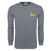 Charcoal Long Sleeve T Shirt-Official Logo
