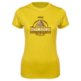 Ladies Syntrel Performance Gold Tee-2017 Mens Basketball Champions Basketball Ribbon