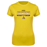 Ladies Syntrel Performance Gold Tee-2017 Mens Basketball Champions