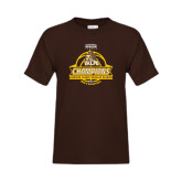 Youth Brown T Shirt-2017 Mens Basketball Champions Basketball Ribbon