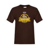 Youth Brown T Shirt-2017 Mens Basketball Champions Basketball Ribbon