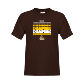 Youth Brown T Shirt-2017 Mens Basketball Champions Repeating