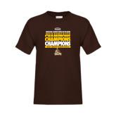Youth Brown T Shirt-2017 Mens Basketball Champions Repeating