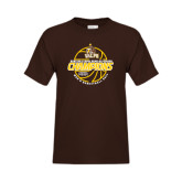Youth Brown T Shirt-2017 Mens Basketball Champions Basketball