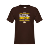 Youth Brown T Shirt-2017 Mens Basketball Champions Stacked