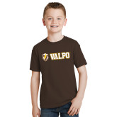 Youth Brown T Shirt-Flat Valpo Shield