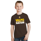 Youth Brown T Shirt-Valpo Nation
