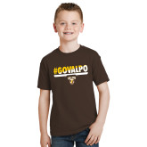 Youth Brown T Shirt-#GOVALPO