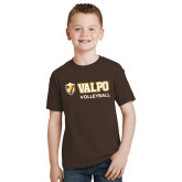 Youth Brown T Shirt-Volleyball