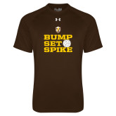 Under Armour Brown Tech Tee-Bump Set Spike