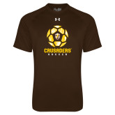 Under Armour Brown Tech Tee-Soccer Design