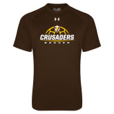 Under Armour Brown Tech Tee-Stacked Soccer Design