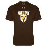 Under Armour Brown Tech Tee-Stacked Valpo Shield