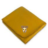 Gold Arctic Fleece Blanket-Stacked Valpo Shield