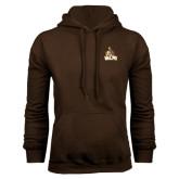 Brown Fleece Hoodie-Official Logo