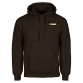 Brown Fleece Hoodie-Flat Valpo Shield