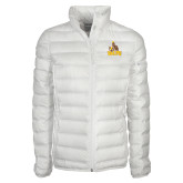 Columbia Lake 22 Ladies White Jacket-Official Logo