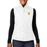 Columbia Lake 22 Ladies White Vest-Stacked Valpo Shield
