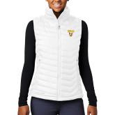 Columbia Mighty LITE Ladies White Vest-Stacked Valpo Shield