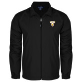 Full Zip Black Wind Jacket-Stacked Valpo Shield