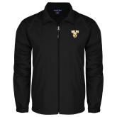 Full Zip Black Wind Jacket-Stacked Valpo Shield