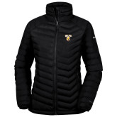 Columbia Mighty LITE Ladies Black Jacket-Stacked Valpo Shield