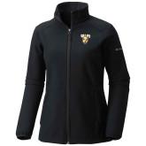 Columbia Ladies Sweet As Black Hooded Jacket-Stacked Valpo Shield
