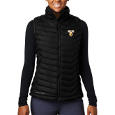 Columbia Mighty LITE Ladies Black Vest-Stacked Valpo Shield