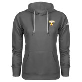 Adidas Climawarm Charcoal Team Issue Hoodie-Stacked Valpo Shield