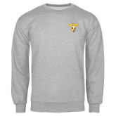 Grey Fleece Crew-Stacked Valpo Shield