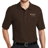 Brown Easycare Pique Polo-School of Psychology Vertical