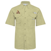 Columbia Bonehead Khaki Short Sleeve Shirt-Official Logo